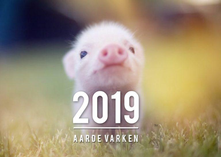 2019 – HET JAAR VAN HET AARDE VARKEN